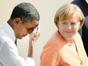 Angela y Obama