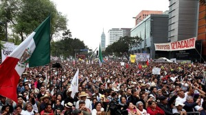Protestas contra la privatización en el sector energético el año pasado
