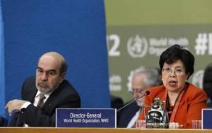 Ministros de Salud, Alimentación y Agricultura de 170 países se reunieron con agencias internacionales y adoptaron la Declaración de Roma que incluye 60 recomendaciones para luchar contra la desnutrición y la obesidad. En la imagen, los directores de la FAO, José Graziano da Silva, y de la OMS, Margaret ChanFoto Ap