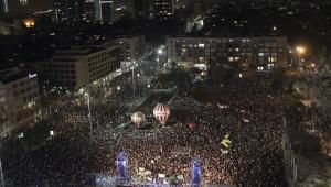 Unas 50 mil personas se apostaron en la plaza Rabín de Tel Aviv. | Foto: AP