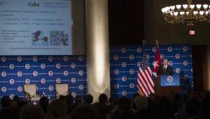 El ministro cubano ofreció una conferencia sobre el panorama de la economía cubana, su evolución y perspectivas de desarrollo.