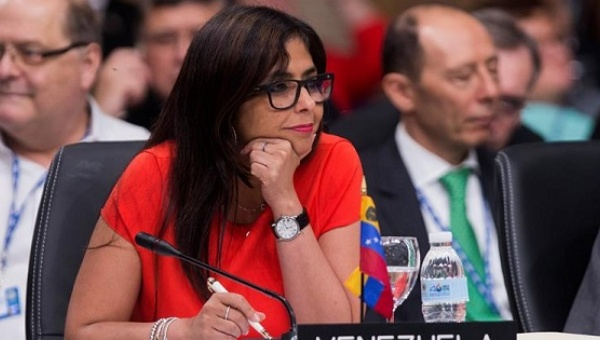 La canciller Delcy Rodríguez | Foto: teleSUR