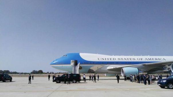 Obama aterriza en la Base Naval de Rota, convirtiéndose en el primer presidente de EEUU en visitarla ROTA (CÁDIZ) | EUROPA PRESS