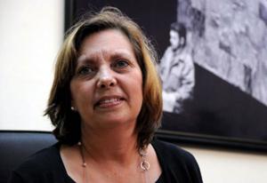 Josefina Vidal Ferreiro, Directora General de Estados Unidos de América, del Ministerio de Relaciones Exteriores (MINREX), en conferencia de prensa. Foto: Omara GARCÍA MEDEROS/ACN