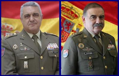 Jefe de Estado Mayor del Ejército de Tierra, General Francisco Javier Varela Salas y Comandante General de Melilla, Fernando Gutiérrez Díaz de Otazu..jpg (1)