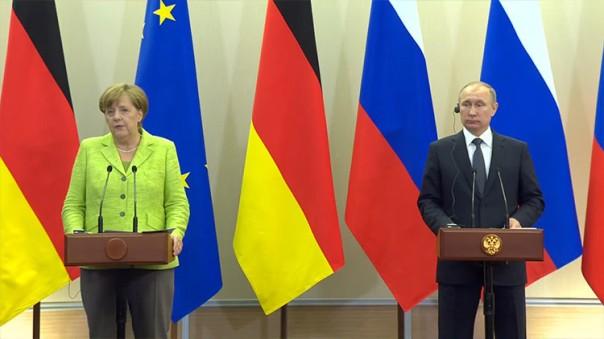 Putin y Merkel