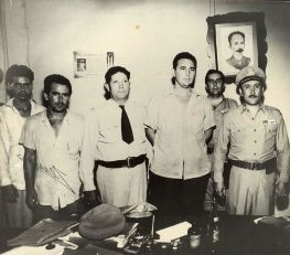 "(FILES) This file photo taken on July 26, 1953 shows Fidel Castro (3R) at the Vivac in Santiago de Cuba, July 1953, after the attack on the Moncada garrison house by the group led by Castro. Cuban revolutionary icon Fidel Castro died late Friday in Havana, his brother, President Raul Castro, announced on national television. ""The commander in chief of the Cuban revolution died at 22:29 hours this evening,"" the president announced on national television. Fidel Castro was 90. - / AFP / Archivo consejo de estado / -"