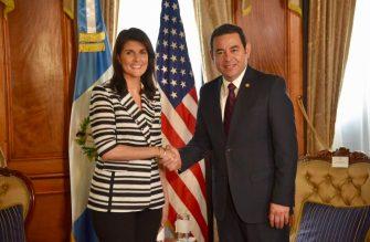 Delegada-Trump-Nikki-Haley-Jimmy-Morales-reunión-1190x781