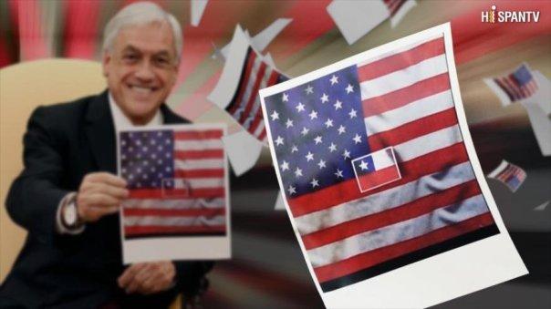 Piñera y su bandera